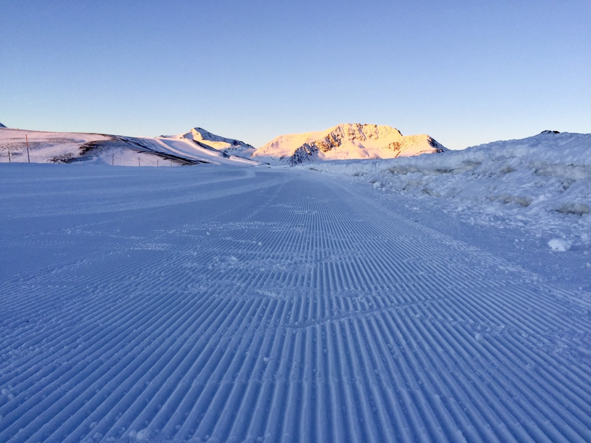 Prachtig geprepareerde pistes in Livigno