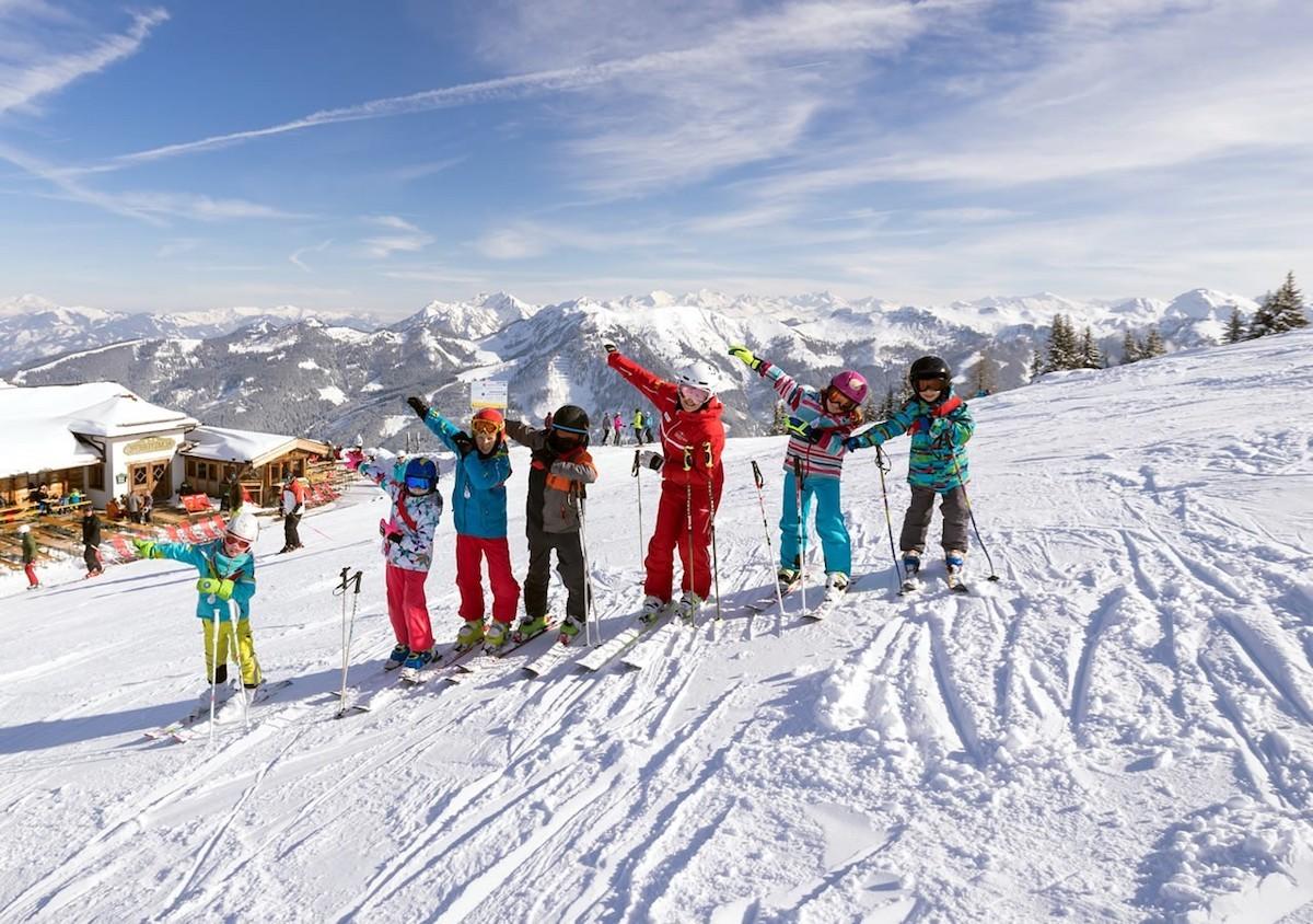 kinderen op wintersport