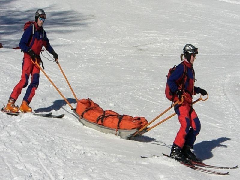 het rescue team onderweg met een banaan