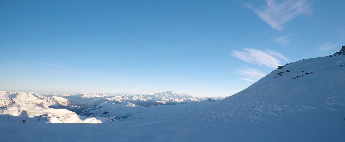 Zicht op de Mont Blanc