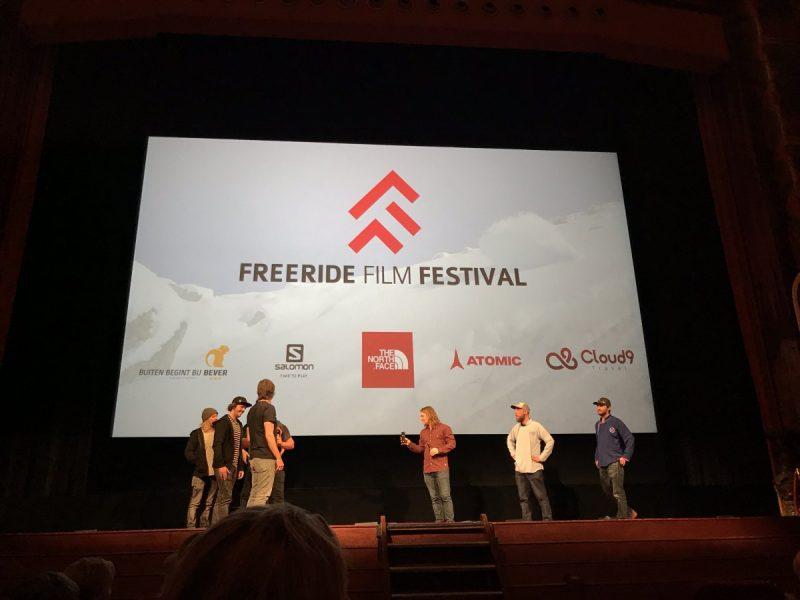 Poederbaas tijdens het Freeride Film Festival vorig jaar