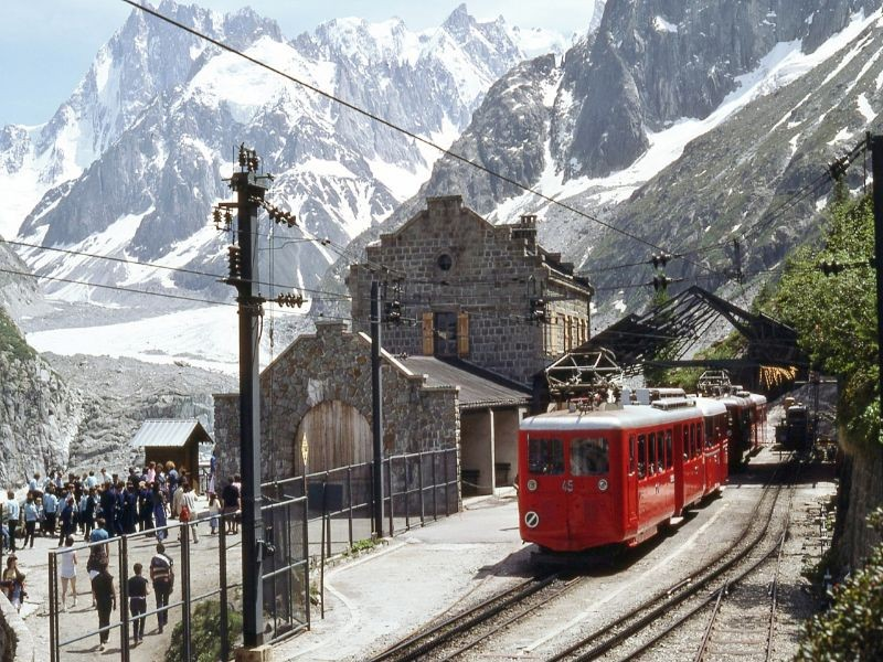trein naar Mer du Glace