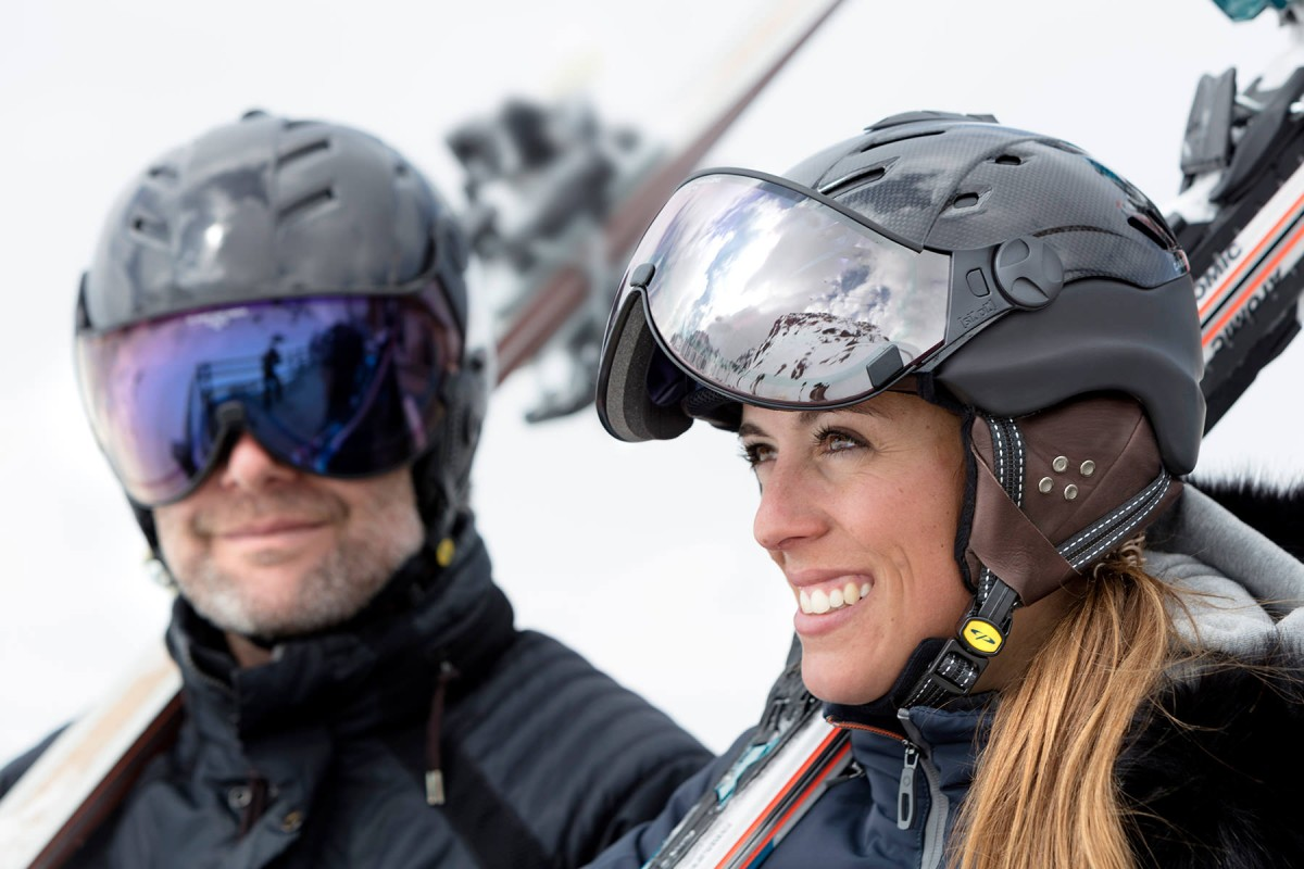 CP skihelm met vizier