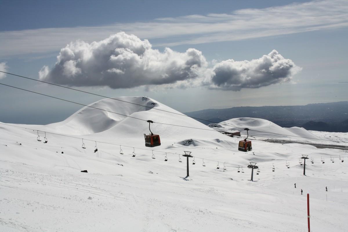 Skiën op de Etna