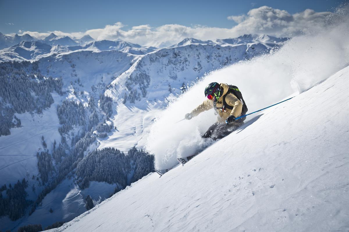 Freeride Wat wordt de route? Foto saalbach.com, Mirja Geh