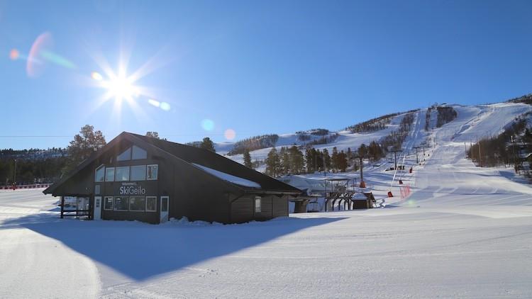 Deze omstandigheden maken het wachten een stuk aangenamer :) Geilo Noorwegen