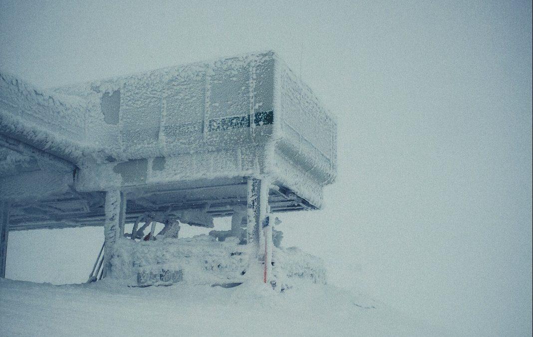 extreem slecht weer in de Alpen