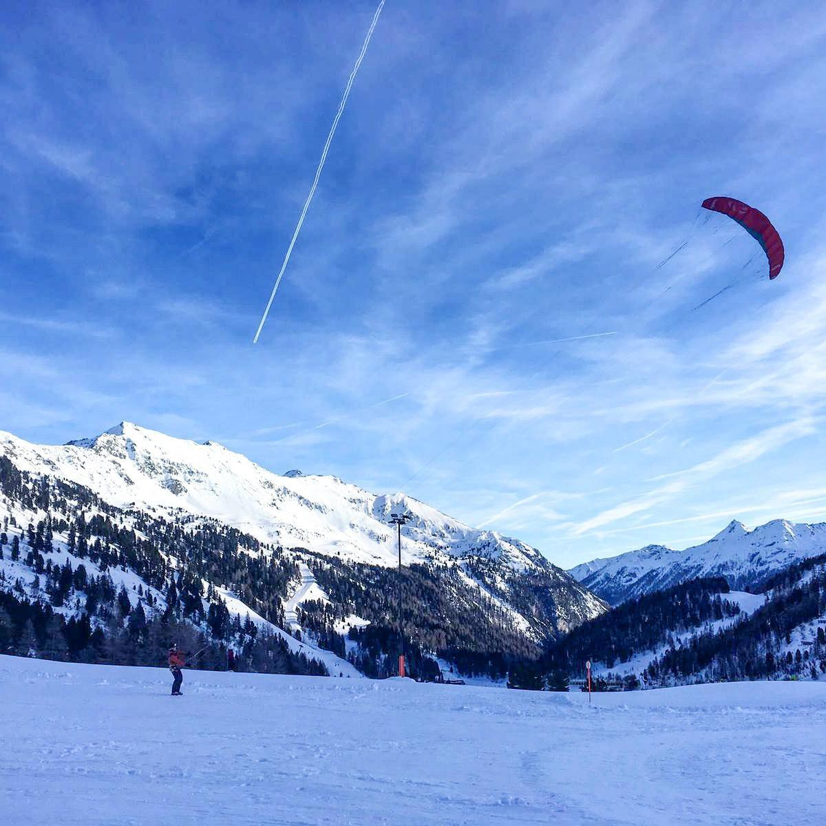 Snowkiten de eerste ervaringen. Fotocredits Peter de Vries