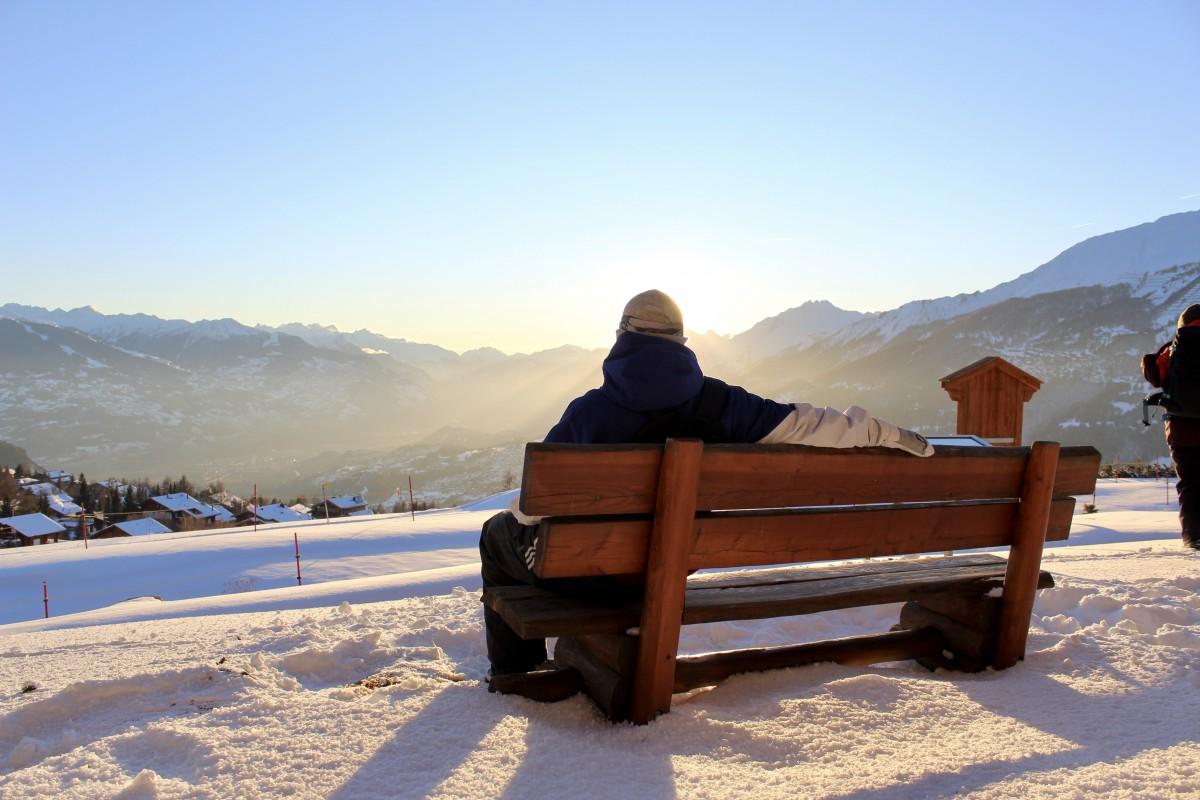 Genieten van het prachtige uitzicht. Foto: Pauline van der Waal