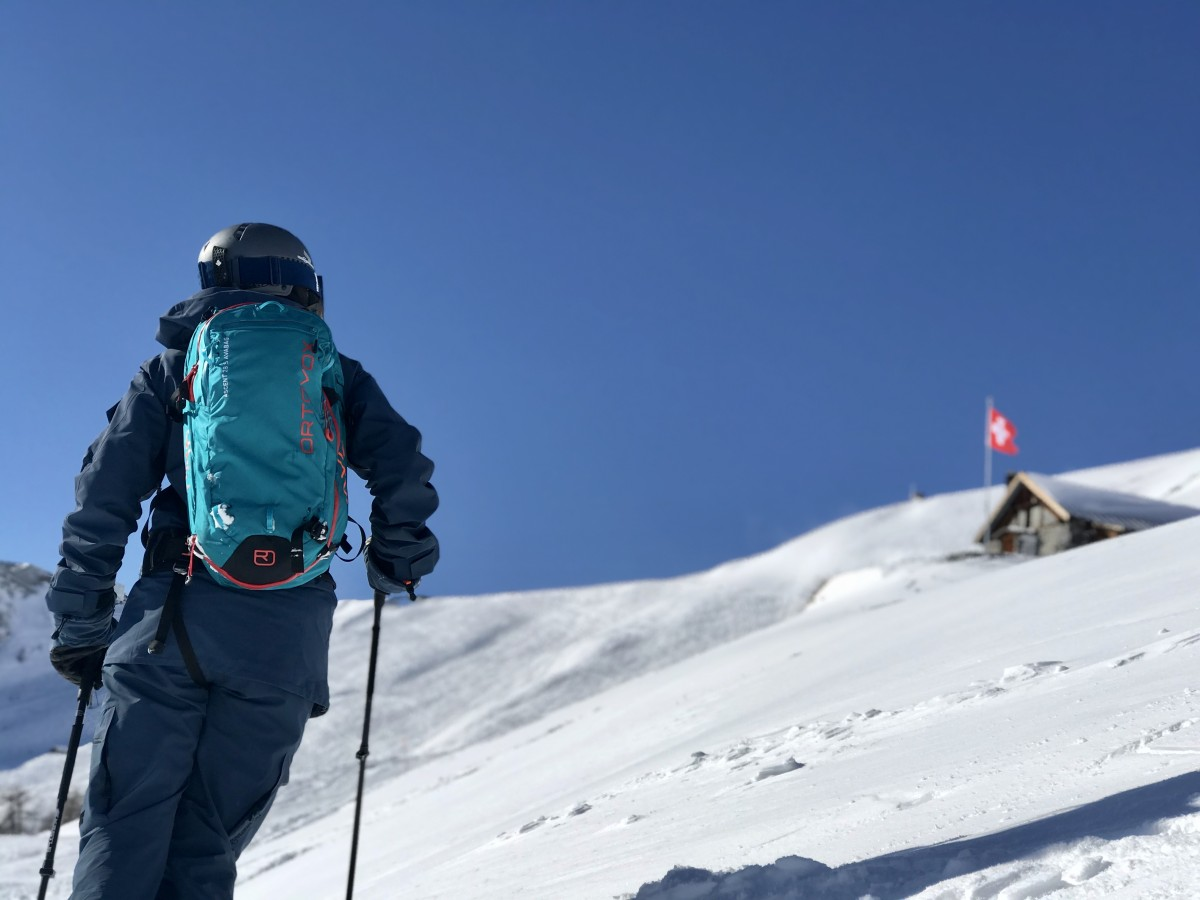 Zwitsers hutje in de bergen. Foto: Pauline van der Waal