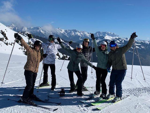 Martijn en zijn skigroep in Zell am See