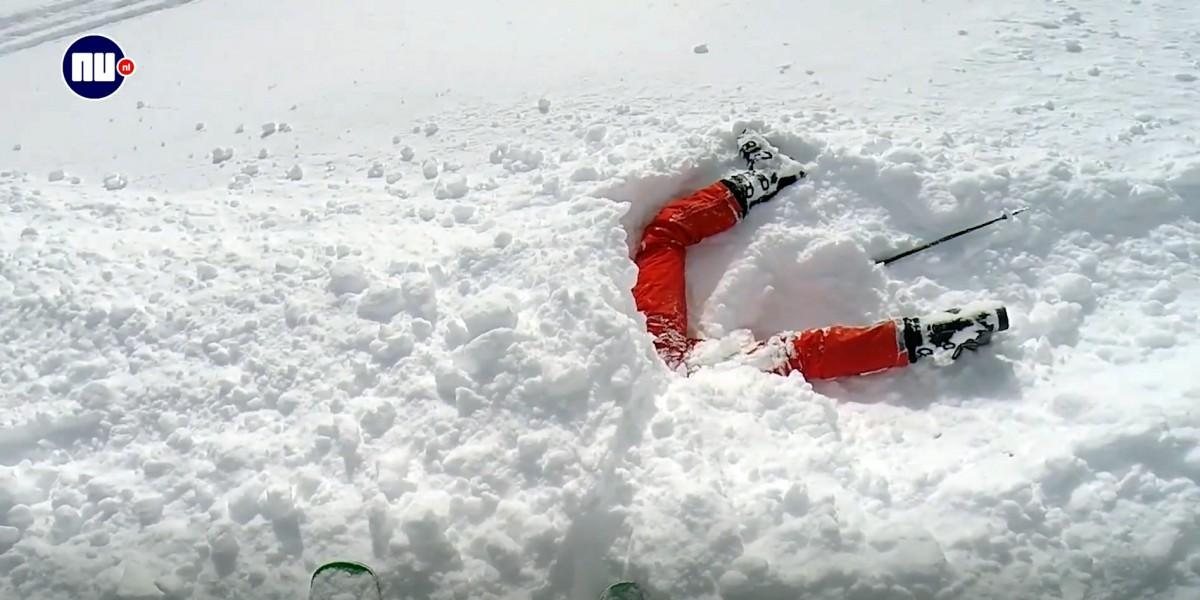jonge skiester in Les Arcs