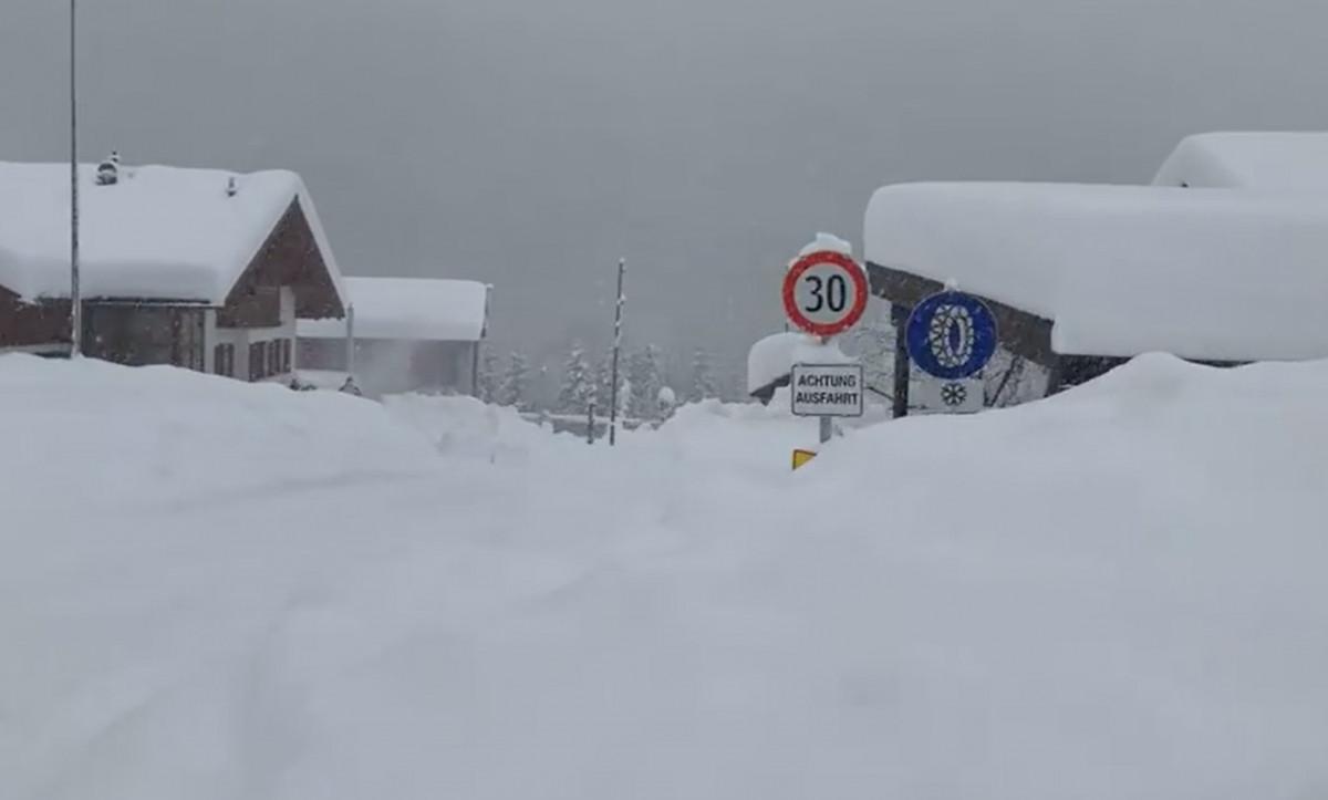 sneeuwdump lawines